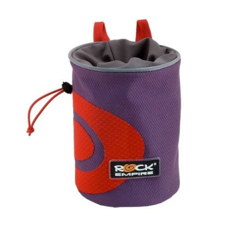 spiral chalk bag purple rock empire