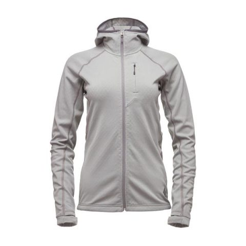 women coefficient fleece hoody black diamond nickel