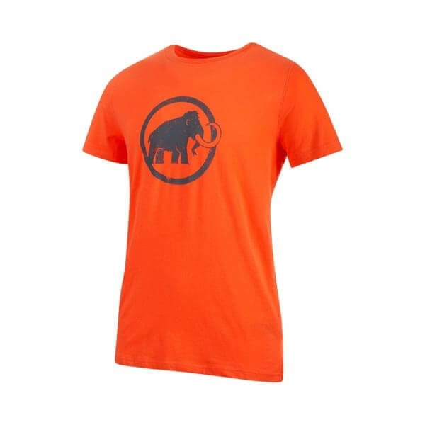 mammut logo tshirt orange