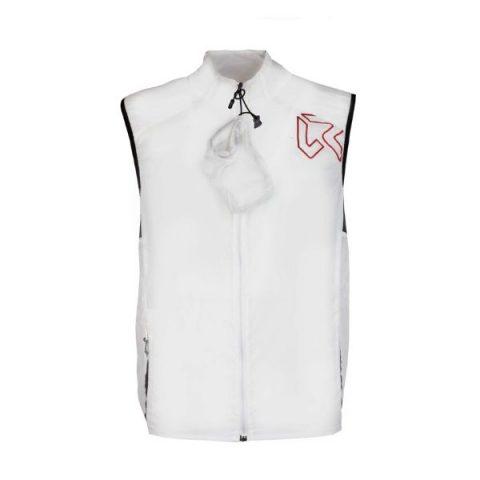 fire man vest white γιλέκο