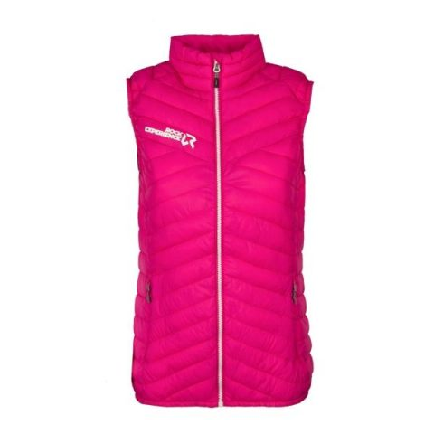 kalea padded woman vest pink