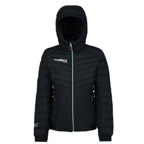 re.action padded woman jacket rock experience black
