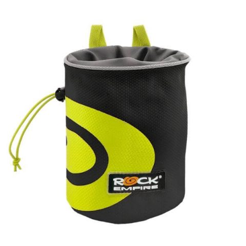 spiral chalk bag black lime