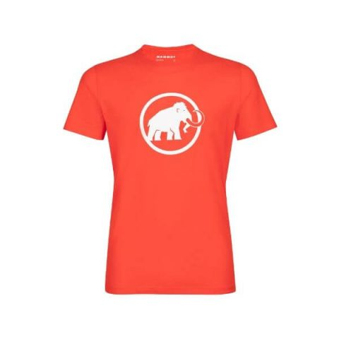 mammut logo t shirt red