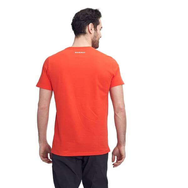 mammut logo t shirt red