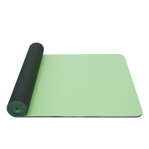 yoga mat double layer tpe green grey