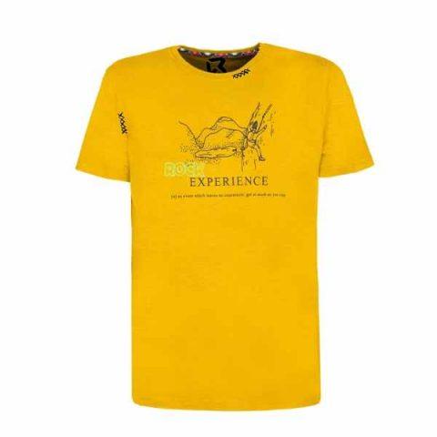 rock-experience-climbing-t-shirt-elettroshock-man- yellow