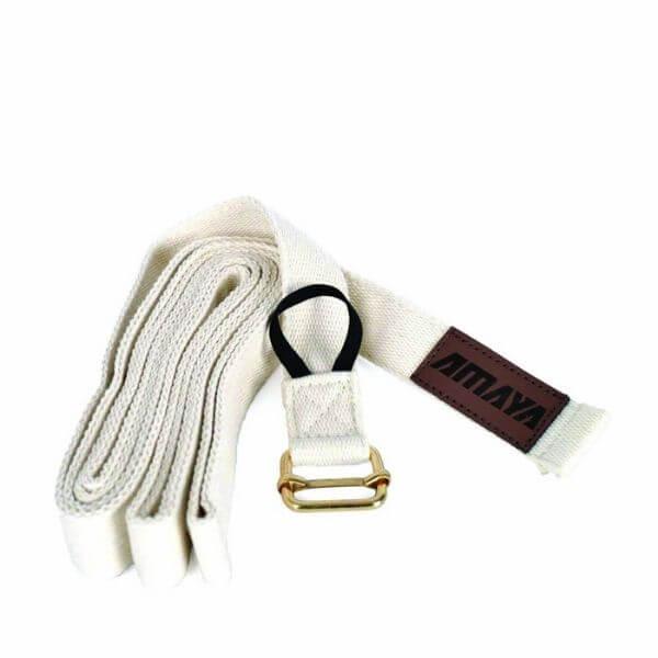 yoga strap white